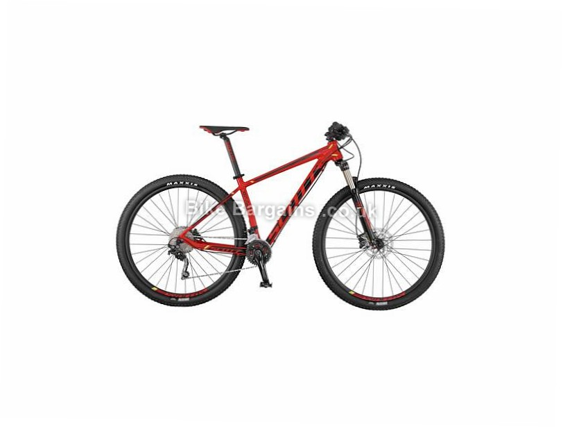 Scott Scale 970 Deore Alloy Hardtail Mountain Bike 2017 M,L, Red, Black, 29""
