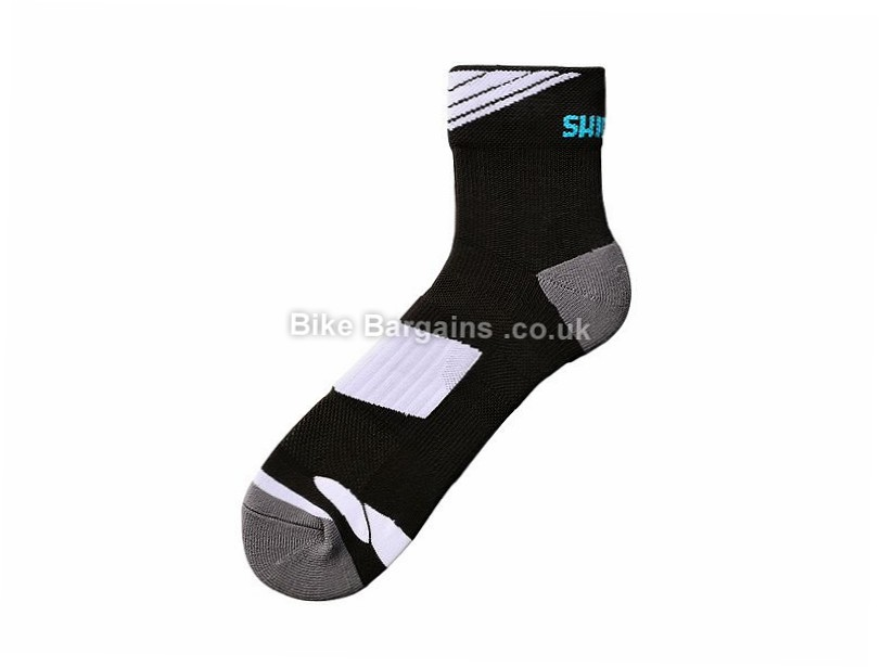 Shimano Performance Ankle Socks S, L, Black, White