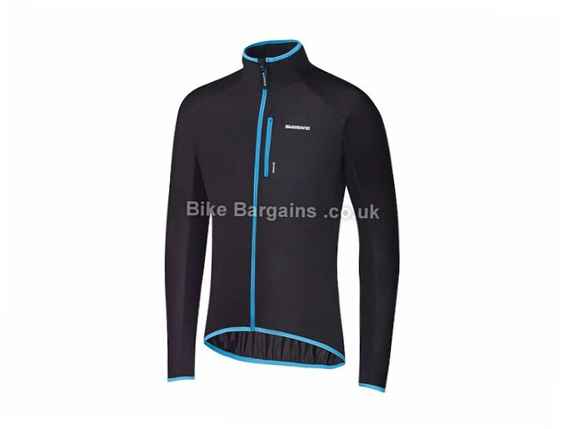 Shimano Stretchable Windbreak Jacket 2017 S,M,XL, Black, Men's, Long Sleeve