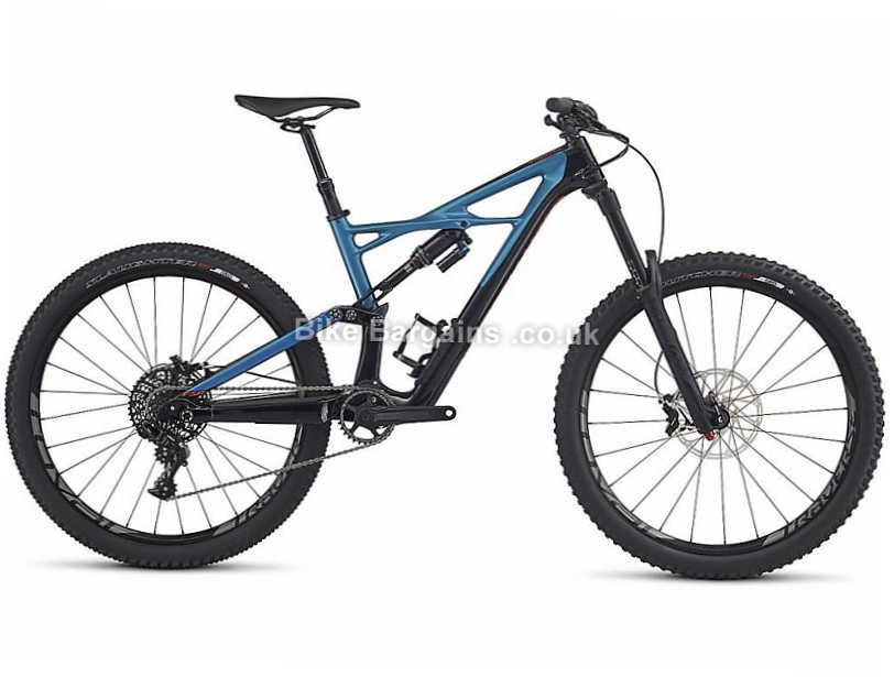 "Specialized Enduro Elite 27.5"" Carbon Full Suspension Mountain Bike 2017 Black, Blue, M"