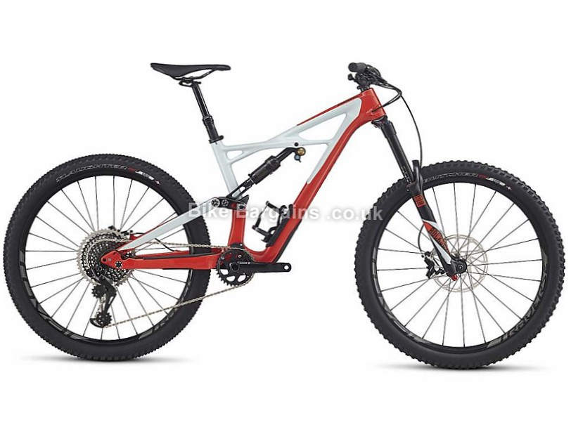 "Specialized Enduro Pro 27.5"" Carbon Full Suspension Mountain Bike 2017 M, White, Red"