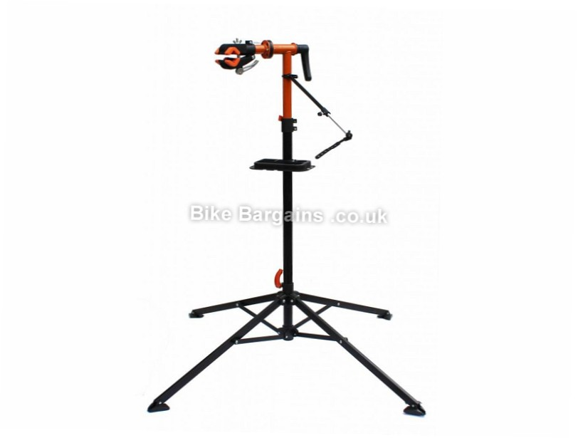 Ultimate Hardware Folding Bike Maintenance Workstand Black, Orange, up to 30kg