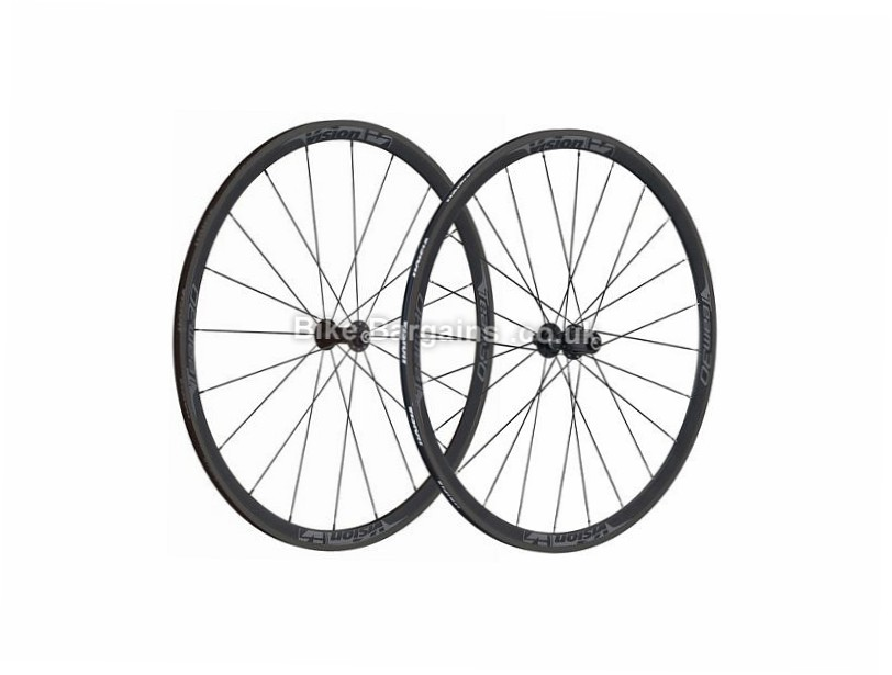 Vision Team 30 Road Wheelset 2017 Shimano, 700c, Black, Red, Grey, 700c,  10 Speed, 11 Speed