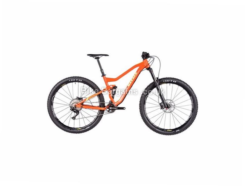 "Vitus Bikes Escarpe 29 VRX XT Alloy Full Suspension Mountain Bike 2017 29"", 17"", Orange, Yellow, 11 Speed, Alloy, 150mm, 135mm"