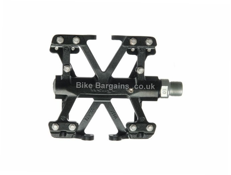 Wellgo CNC Platform B137B Flat Mountain Bike Pedals Black, 450g