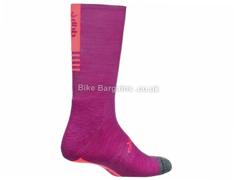 dhb Aeron Ladies Merino Socks XS, Turquoise, Blue, Purple, Pink