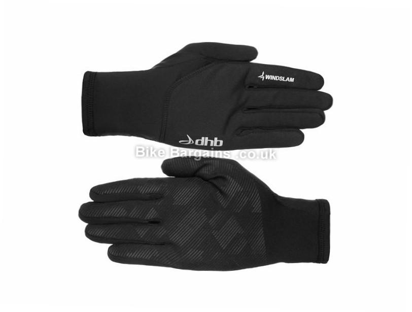 dhb Windslam Stretch Full Finger Gloves XXL, Black, Full Finger, Fleece