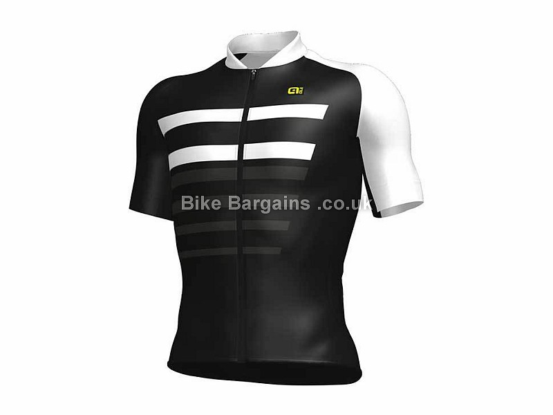 Ale PRR 2.0 Piuma Short Sleeve Jersey Black, White, L