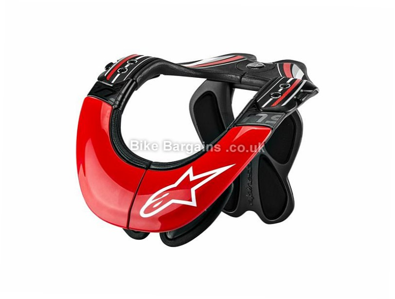 Alpinestars BNS Tech Carbon Neck Brace 2017 L,XL, Red, White