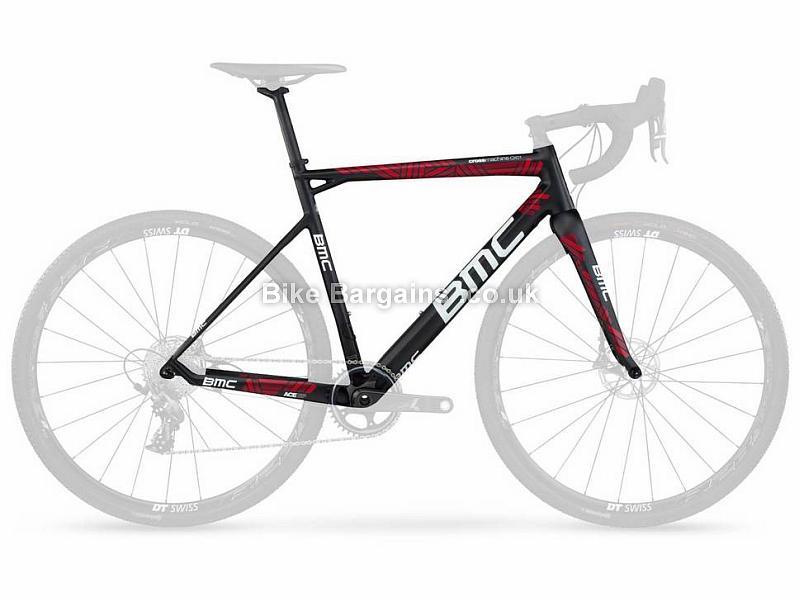 BMC Crossmachine CX01 Carbon Disc Cyclocross Frame 2017 51cm, Black, Red, Carbon, 1.54kg, Disc, 700c