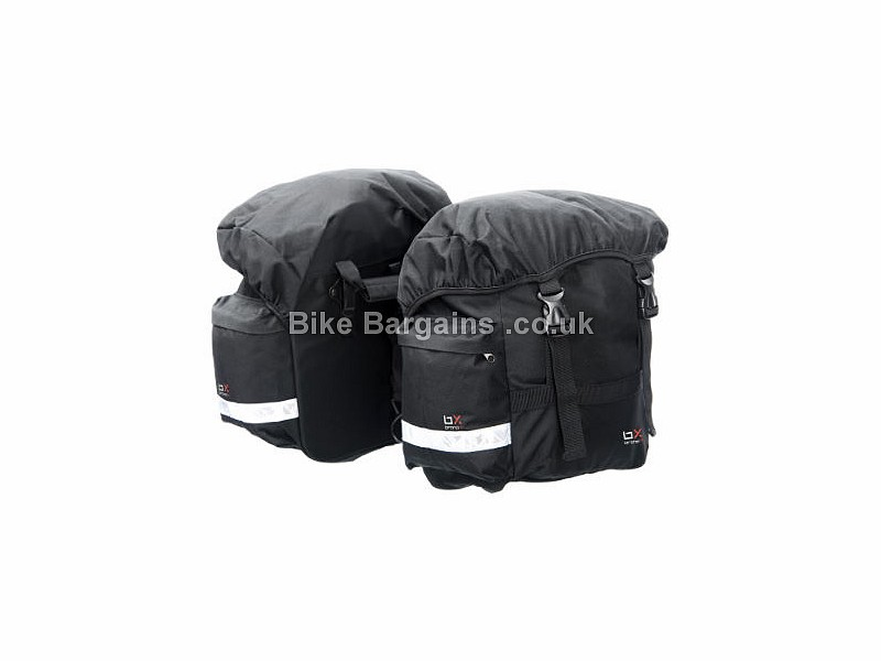 Brand-X Pair Pannier Bike Bags 1150g, 25 litres per bag, Black