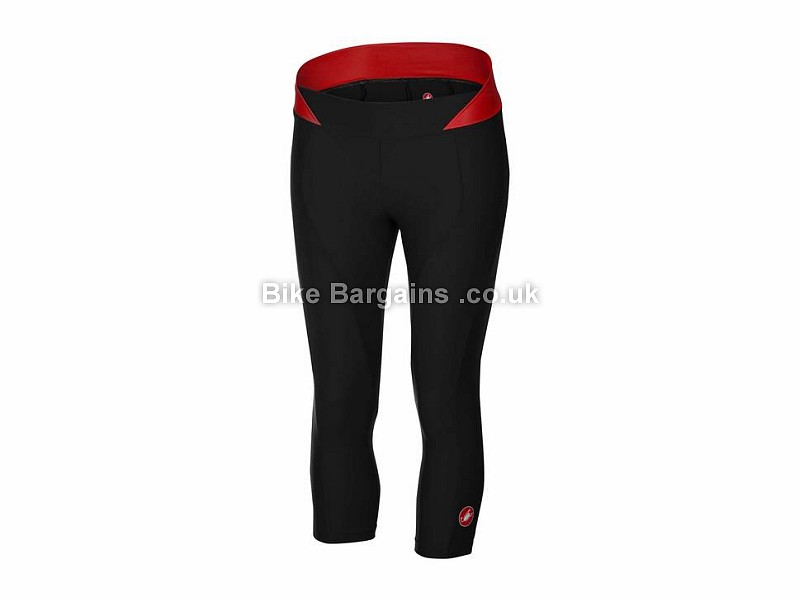 Castelli Bellissima Ladies 3/4 Tight Knickers XS,S, Black, Red