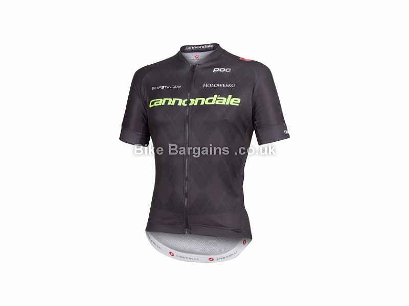 Castelli Cannondale Team 2.0 Short Sleeve Jersey L, Black