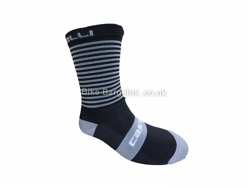 Castelli Free 13 Socks S,M, Black, Grey, Blue