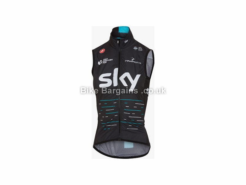 Castelli Team Sky Ladies Pro Light Wind Gilet S, Black