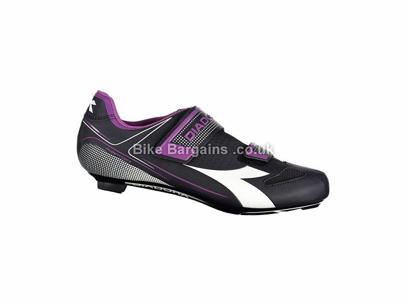 Diadora X Phantom II Ladies Road Shoes 39, Black, White, Pink