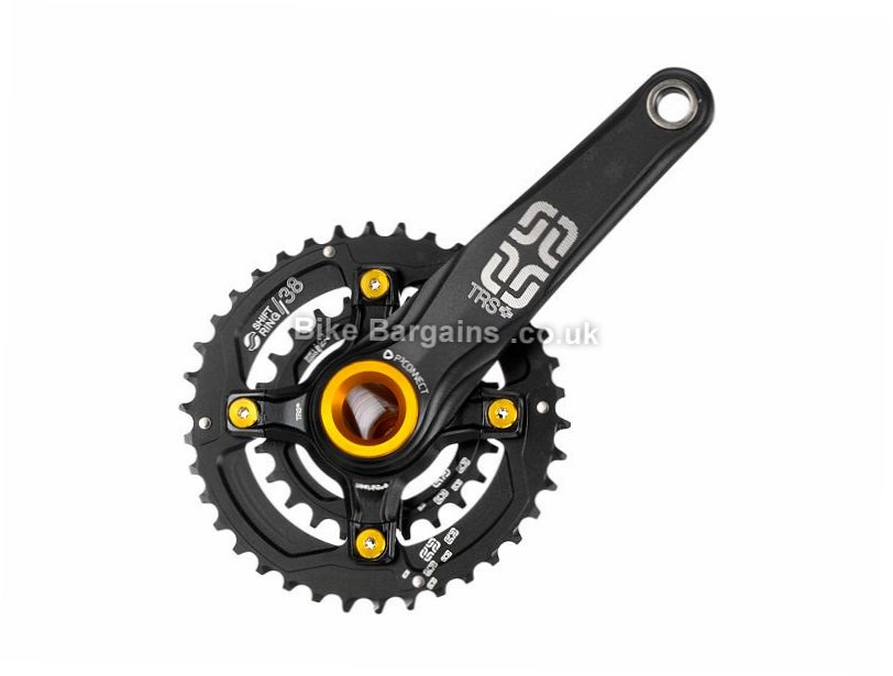 E Thirteen TRS+ AM Double MTB Chainset 170mm, Black, 10 Speed, Alloy