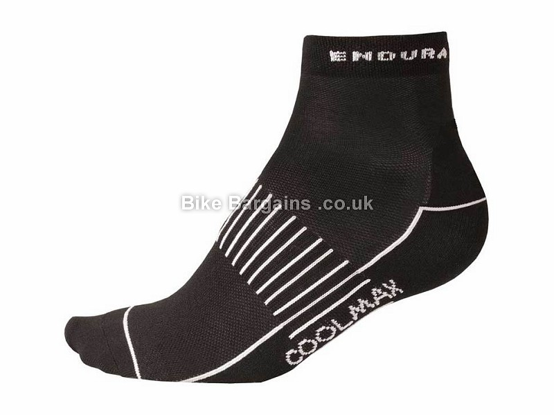 Endura Coolmax Race II Sock 3 Pack S,M, Black, White