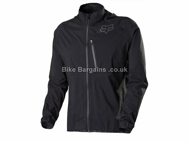 Fox Gradient Waterproof Jacket S, Black