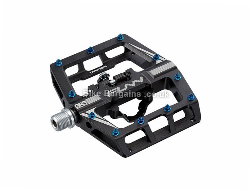 Funn Mamba One Sided Clip MTB Pedals Green - other colours are extra, Alloy, 530g