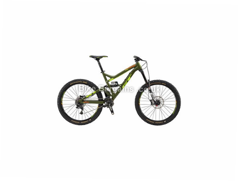 "GT Sanction Comp 27.5 Alloy Full Suspension Mountain Bike 2017 Green, Black, S, 27.5"", Alloy"