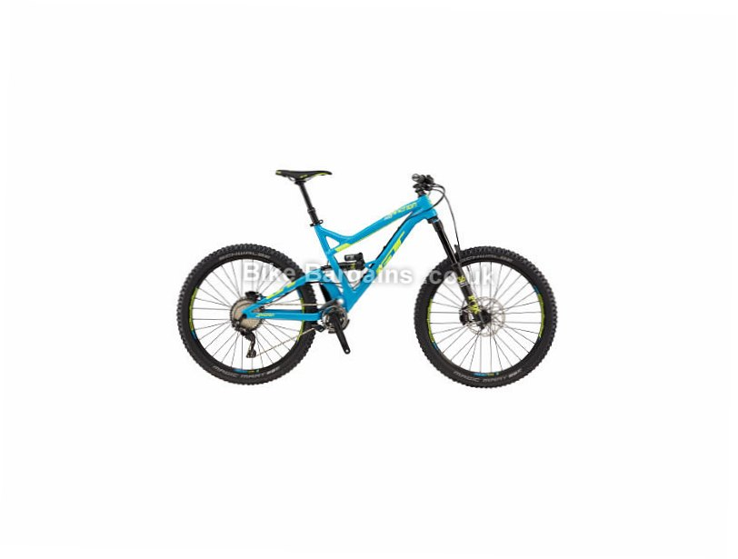 "GT Sanction Pro 27.5 Alloy Full Suspension Mountain Bike 2017 Blue, Black, S, 27.5"", Alloy"