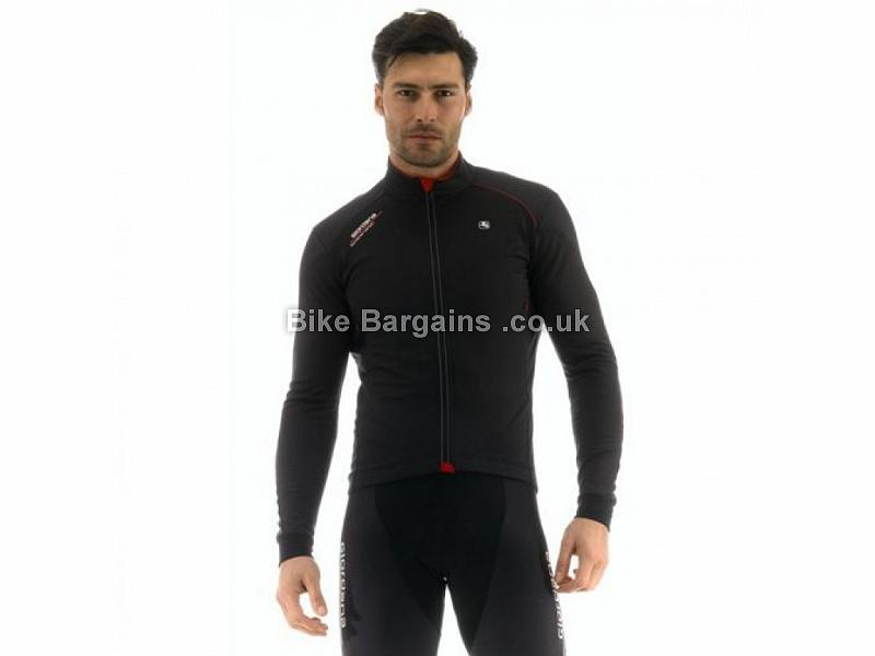 Giordana FRC Windproof Long Sleeve Jersey S,XL, Black, Red, White
