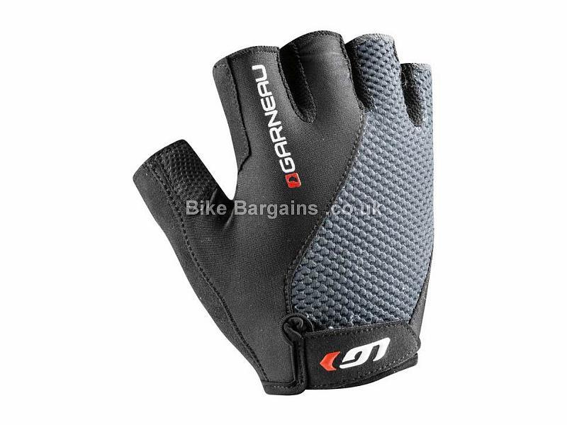 Louis Garneau Air Gel+ Mitt Gloves S,M,L,XL,XXL, Black, Grey