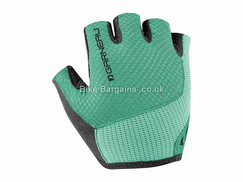 Louis Garneau Ladies Nimbus Evo Mitts S, Green, White, Mitts, Velcro