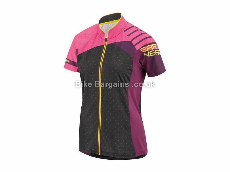 Louis Garneau Ladies River Run Short Sleeve Jersey XS, Pink, Black
