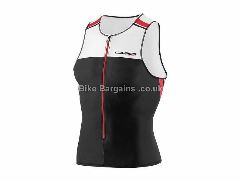 Louis Garneau Tri Elite Course Sleeveless Triathlon Top Black, Red, White, M