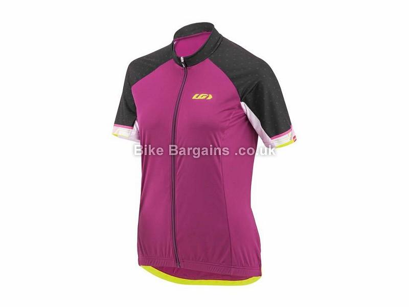 Louis Garneau Zircon Ladies Short Sleeve Jersey XS,S,M,L,XL, Black, White, Pink