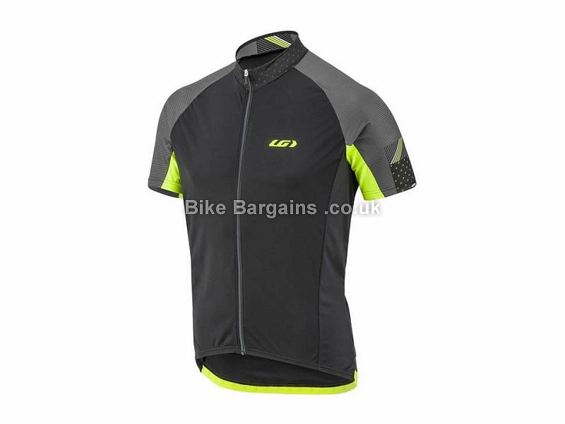 Louis Garneau Zircon Short Sleeve Jersey S,XXL, Black, Yellow, Grey