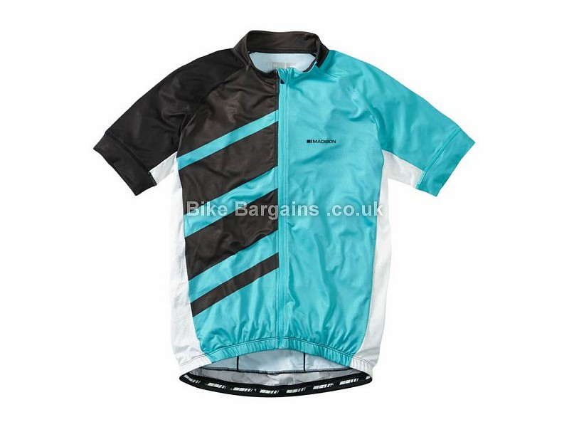 Madison Sportive Race Short Sleeve Jersey L, Blue, Black, Grey