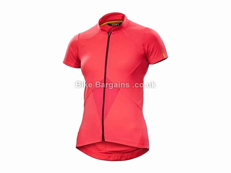 Mavic Sequence Ladies Short Sleeve Jersey XL, Pink, Blue