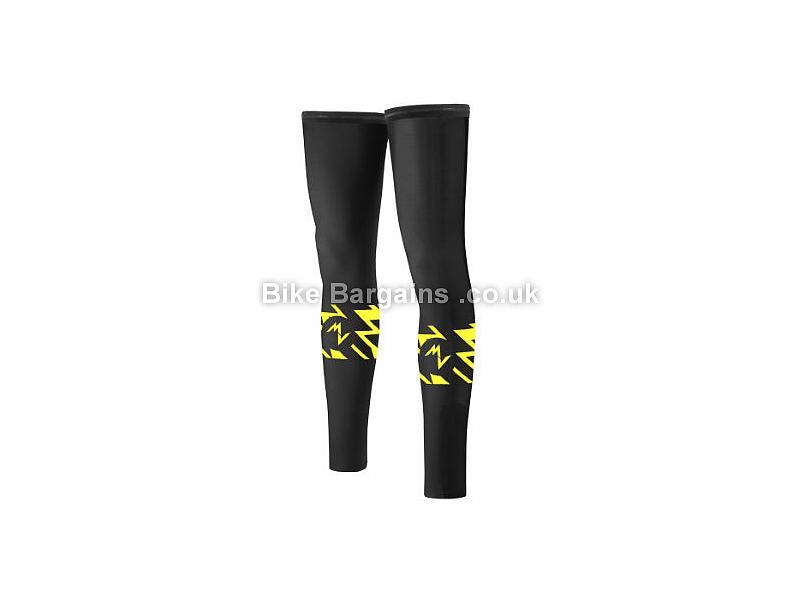 Morvelo Blaze Stormshield Leg Warmers L, Black, Yellow