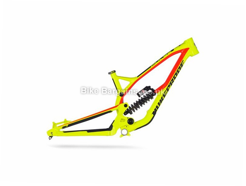 "Nukeproof Pulse Comp 27.5"" Alloy Full Suspension Mountain Bike Frame 2017 15"", 200mm travel, Green, Red, 27.5"", Alloy, Full Sus"