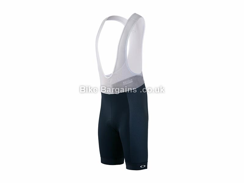 Oakley Jawbreaker Road Bib Shorts S, Black, White