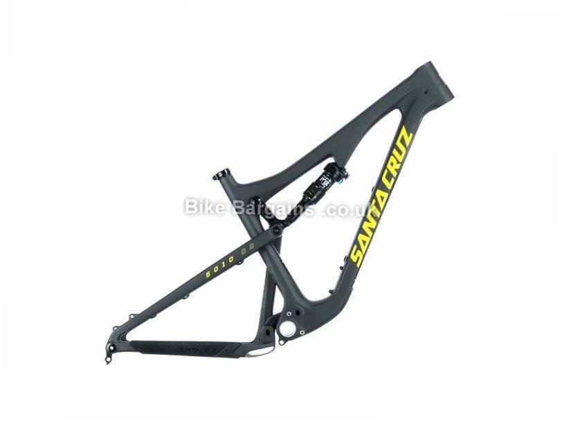 "Santa Cruz 5010 2.0 CC 27.5"" Factory Carbon Full Suspension Mountain Bike Frame 2017 M, Black, Yellow, Carbon, 130mm"