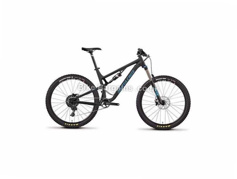"Santa Cruz Bronson R1 27.5"" Alloy Full Suspension Mountain Bike 2017 27.5"", M, Blue, Orange, Black, 11 Speed, Alloy, 150mm"