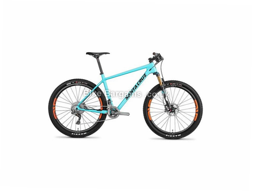 "Santa Cruz Highball S 27.5"" Carbon Hardtail Mountain Bike 2016 27.5"", L, Blue, Black, Carbon, 100mm"