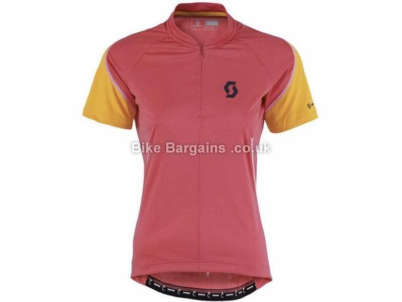 Scott Ladies Endurance Q-Zip Short Sleeve Jersey XS,S,M, Pink