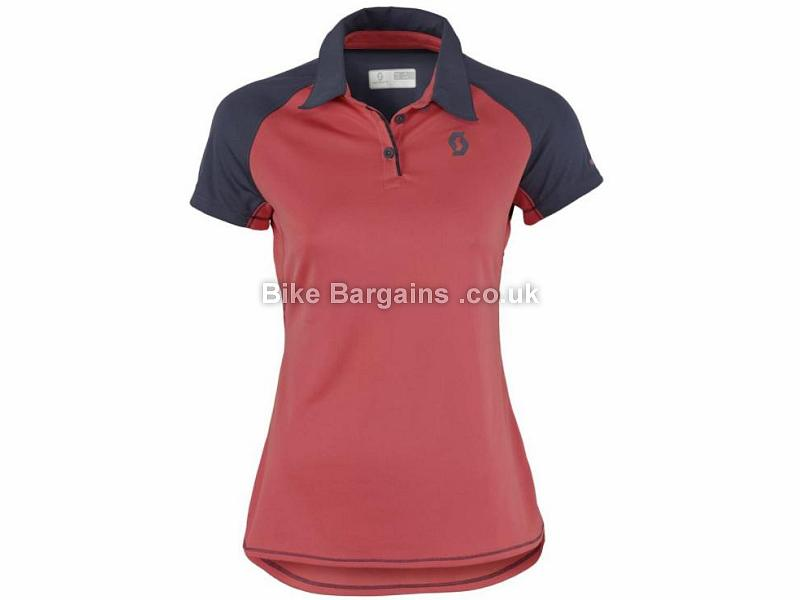 Scott Ladies Trail MTN Polo Short Sleeve Jersey XS,M, Red
