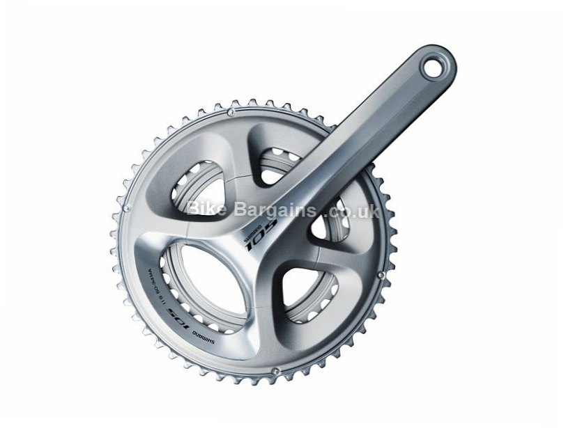 Shimano 105 5800 11 Speed Double Chainset 170mm, 172.5mm, 11 Speed, Alloy