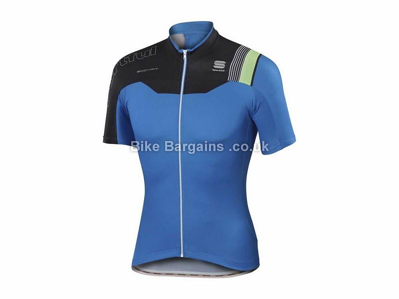Sportful BodyFit Pro Team Short Sleeve Jersey L, Blue, Black