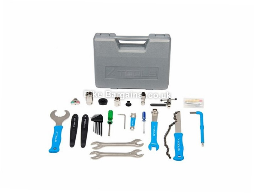 X-Tools 18 Piece Bike Tool Kit 18 Pieces, Grey, Blue