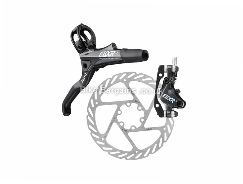 Avid Elixir 5 Complete MTB Disc Brake Set White, Front & Rear, excRotors