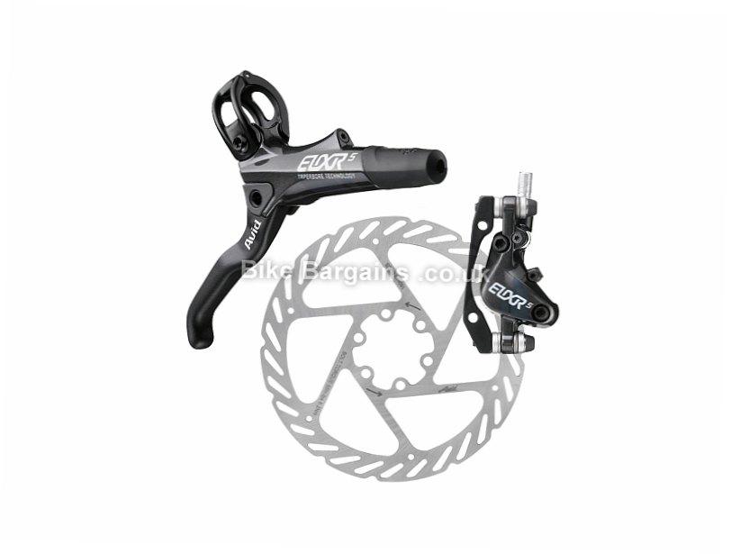 Avid Elixir 5 Complete MTB Disc Brake Set White, Front & Rear, exc Rotors