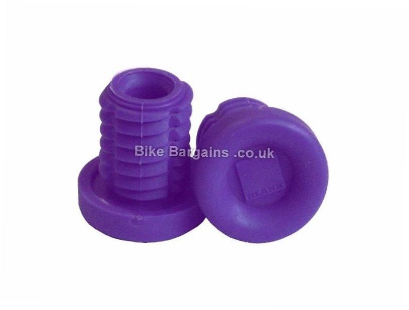 Blank MTB Handlebar Plugs Purple, Red