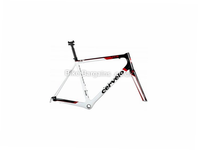 Cervelo R3 Carbon Caliper Road Frame 2010 58cm, Black, Red, White, Carbon, Caliper Brakes, 700c